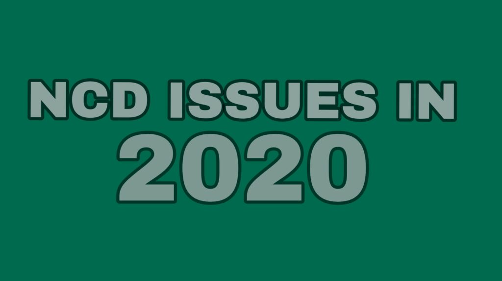 NCD Issue list 2020